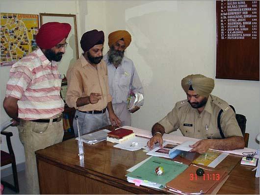 Memorandum presented to SSP (Ludhaina)